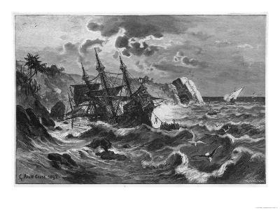 "The Wreck of the Caravel ""Santa Maria"" Columbus's Ship"