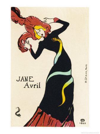 Jane Avril Music Hall Performer