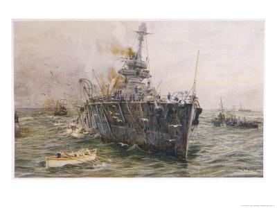 Audacious' One of the Most Powerful Members of the Allied Fleet is Sunk by a German Mine