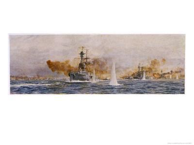 "British Warships ""Royal Oak"" ""Acasta"" ""Benbow"" Superb"" and ""Canada"" in Action"