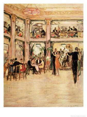 Dancers and Diners at the Kit- Kat Club in the Haymarket London