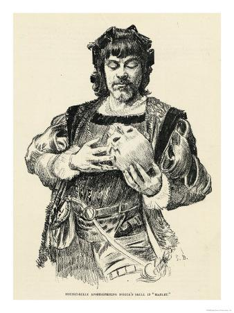 The French Actor Mounet- Sully in the Role of Hamlet Apostrophizing Yorick's Skull