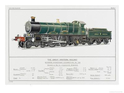 Great Western Railway Express Loco No 190 Waverley