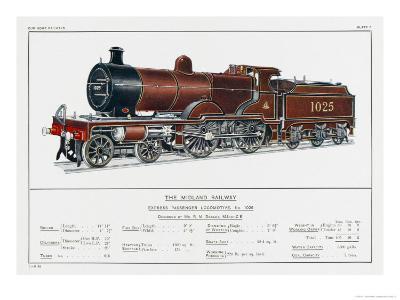 Midland Railway Express Loco No 1025