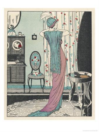 Back View of a High Waisted Draped Gown with Train by Zimmerman