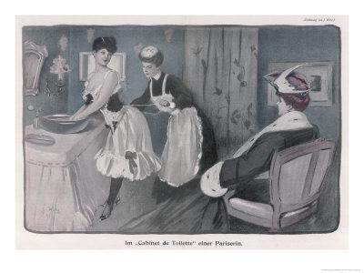 Ladies' Maid Tightens Her Mistress's Corset