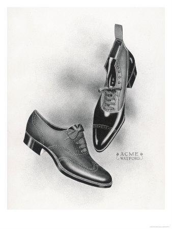 An Example of a Front Lacing Shoe and Boot with a Contrasting Upper Which May be Composed of Canvas