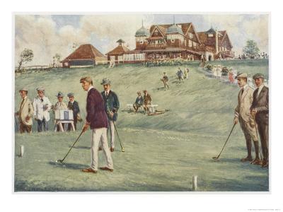 Golfers Golfing at the Royal Sydney Golf Club Links