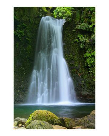 Waterfall Azores Islands