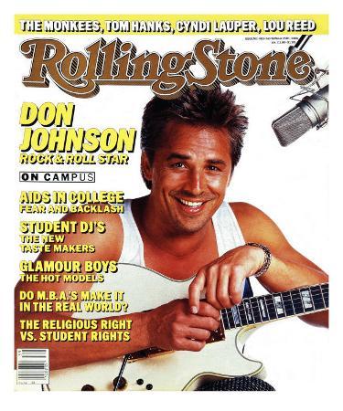 Don Johnson, Rolling Stone no. 483, September 1986