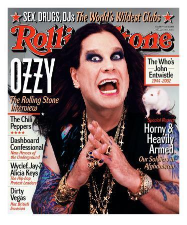 Ozzy Osbourne, Rolling Stone no. 901, July 2002
