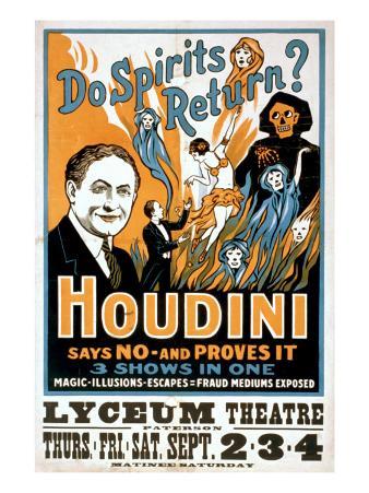 Do Spirits Return? Houdini Says No