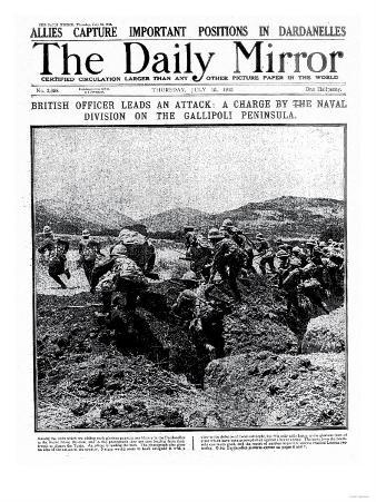 British Officer Leads an Attack: A Charge by the Naval Division on the Gallipoli Peninsula