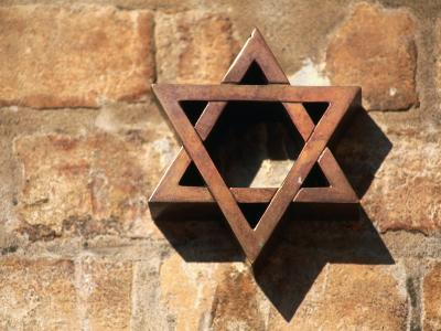 Star of David on Wall in Jewish District, Venice, Italy