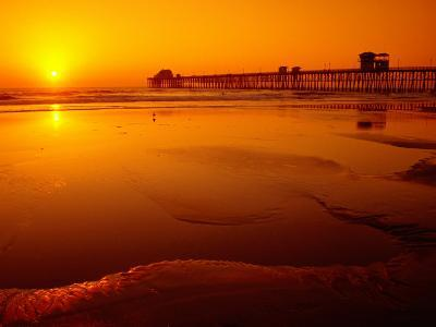 Oceanside Pier at Sunset, North County, San Diego, United States of America