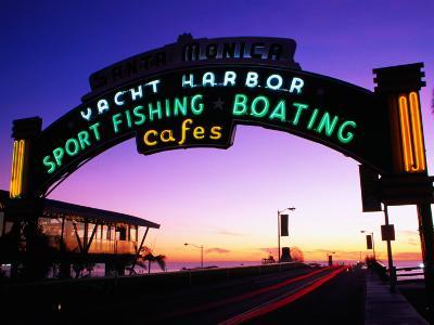Neon Sign on Santa Monica Pier, Los Angeles, United States of America