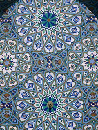 Mosaic Detail of Hassan Ii Mosque, Casablanca, Morocco