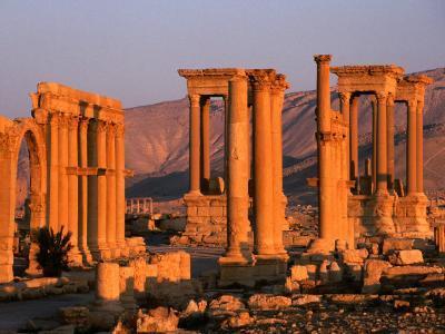 Columns of Ruins at Dawn, Palmyra, Syria