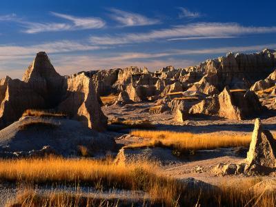 East Entrance in Badlands National Park, Badlands National Park, South Dakota, USA