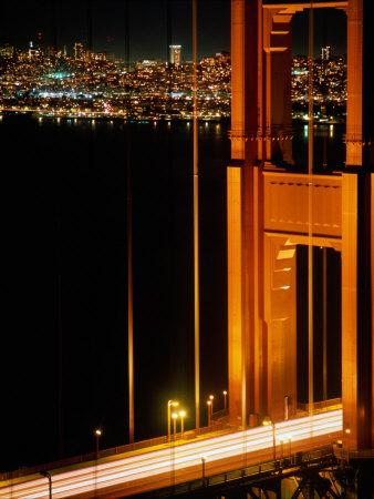 The Golden Gate Bridge with the City of San Francisco Behind, San Francisco, California, USA