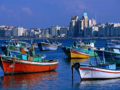 Harbour View with Fishing Boats, Alexandria, Egypt