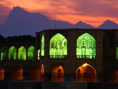 Khaju Bridge, Built in 1650 by Shah Abbas, Esfahan, Esfahan, Iran