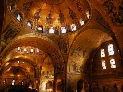 Mosaics of St. Mark's Basilica, Venice, Veneto, Italy