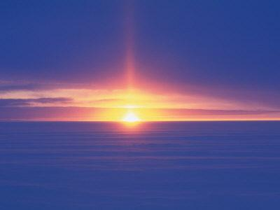 Midnight Sun, Law Dome, Inland from Australian Casey Station, Wilkes Land, Antarctica