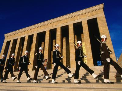 Changing of the Guard at Ataturk Monument, Anit Kabir Mausoleum, Ankara, Turkey