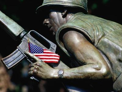 Detail of Vietnam War Memorial, State Capitol Building Grounds, Raleigh, USA