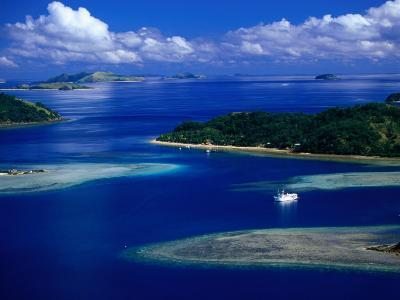 Aerial View of Island, Fiji