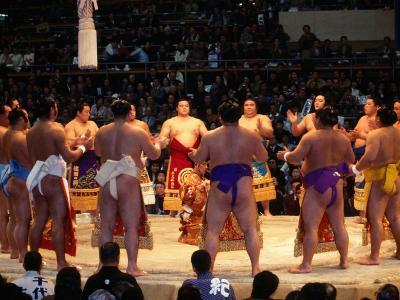 Traditional Ceremony Before Sumo Wrestling, Osaka, Japan
