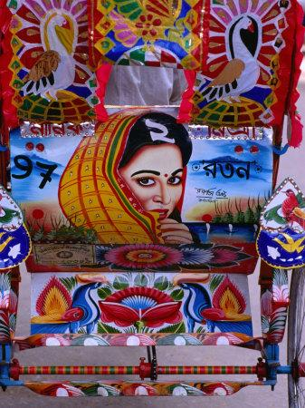 Decorated Rickshaw, Dhaka, Dhaka, Bangladesh