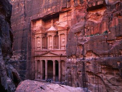 The Facade of the Treasury (Al-Khazneh), Petra, Ma'An, Jordan