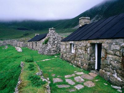 Abandoned Houses in Village of Hirta, St. Kilda, Western Isles, Scotland