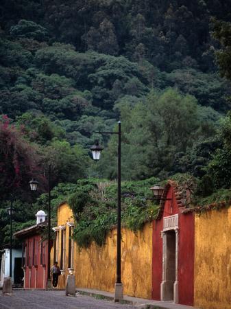 Antigua Streets, Antigua City,Sacatepequez, Guatemala