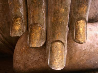 The Hands of Buddha at Wat Si Chum in Sukhothai Historical Park, Sukhothai, Thailand