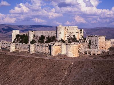 The Remarkably Well Preserved 800 Year Old Crac Des Chevaliers ( Castle of the Knights ), Syria