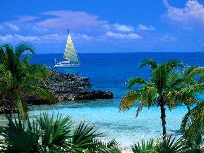 Sailing off Eleuthera, Eleuthera Point, Bahamas