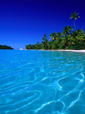 Tropical Lagoon Waters, Aitutaki, Southern Group, Cook Islands