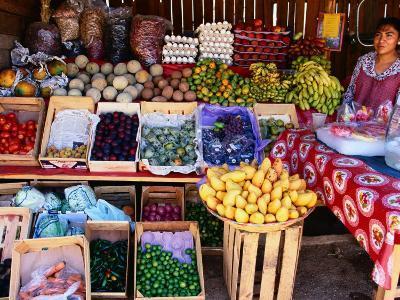 Fruit and Vegetable Shop on Roadside, Oaxaca, Mexico