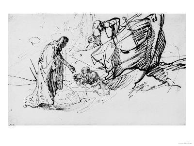 Christ Saving a Shipwrecked Man, British Museum, London