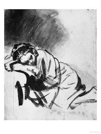 Sleeping Girl, Drawing, British Museum, London
