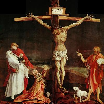 Crucifixion, a Panel from the Isenheim Altar, Limewood (Around 1515)