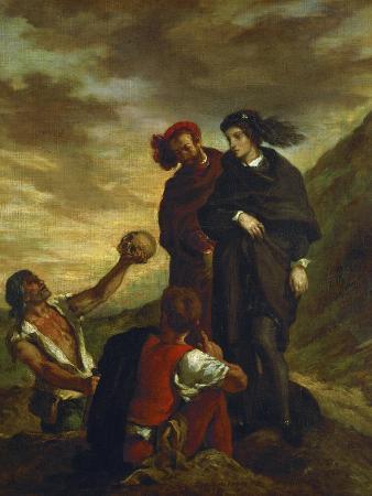 Hamlet and Horatio in the Churchyard