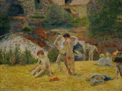 Boys from Brittany Bathing, or Bath at the Mill in the Bois D'Amour, 1886