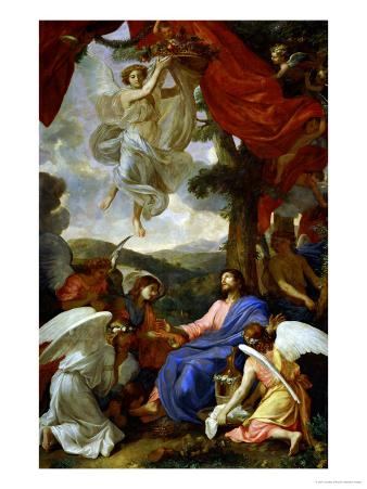 Christ in the Desert Served by Angels, circa 1653
