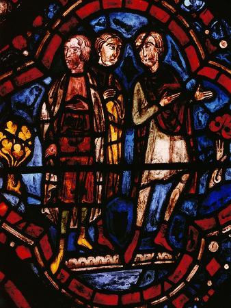 Noah's Sons, Wife and Daughters-In-Law Watch the Building of the Ark, from the Noah Window