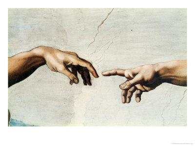 The Creation of Adam, Detail of God's and Adam's Hands, from the Sistine Ceiling