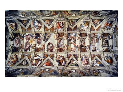 The Sistine Chapel; Ceiling Frescos after Restoration